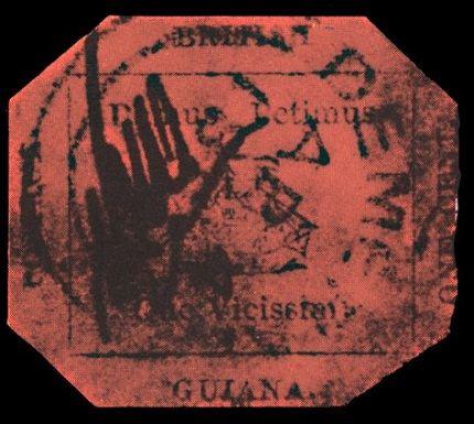 Magenta de un penique de Guayana Británica - Estampilla más cara